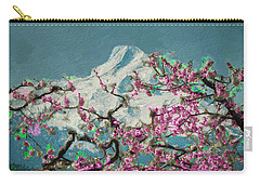Carry-all Pouch featuring the digital art Hood Blossoms by Dale Stillman
