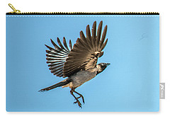 Hooded Crow In Flight Carry-all Pouch
