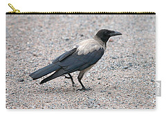 Carry-all Pouch featuring the photograph Hooded Crow by Jouko Lehto