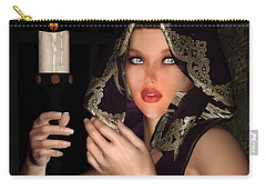 Hooded Girl Carry-all Pouch