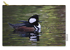 Hooded Merganser Duck Carry-all Pouch by Keith Boone