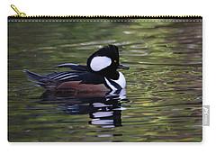 Hooded Merganser Duck Carry-all Pouch