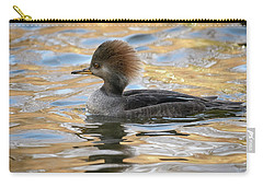 Hooded Merganser Female Carry-all Pouch by Michael Hubley