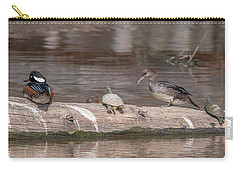 Hooded Merganser Pair Resting Dwf0175 Carry-all Pouch