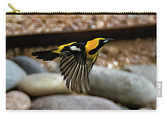 Carry-all Pouch featuring the photograph Hooded Oriole H37 by Mark Myhaver
