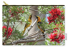 Carry-all Pouch featuring the photograph 16x20 Canvas - Hooded Orioles by Tam Ryan