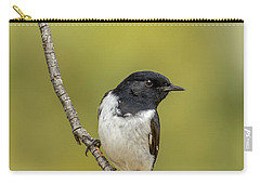 Hooded Robin Carry-all Pouch by Racheal  Christian