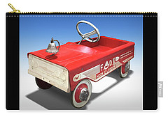 Carry-all Pouch featuring the photograph Hook And Ladder Peddle Car by Mike McGlothlen