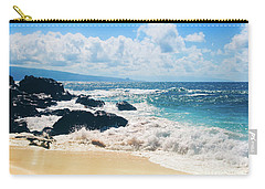 Carry-all Pouch featuring the photograph Hookipa Beach Maui Hawaii by Sharon Mau