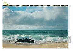 Carry-all Pouch featuring the photograph Hookipa Beach Pacific Ocean Waves Maui Hawaii by Sharon Mau