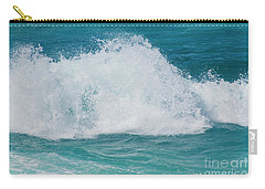 Carry-all Pouch featuring the photograph Hookipa Splash Waves Beach Break Shore Break Pacific Ocean Maui  by Sharon Mau