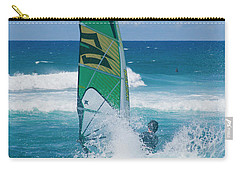 Hookipa Windsurfing North Shore Maui Hawaii Carry-all Pouch by Sharon Mau