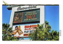 Hooters Casino Sign Carry-all Pouch by Aloha Art