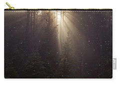 Carry-all Pouch featuring the photograph Hope And Faith - Winter Art by Jordan Blackstone