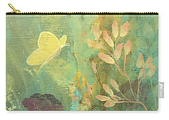 Carry-all Pouch featuring the painting Hopeful Golden Wings by Robin Maria Pedrero