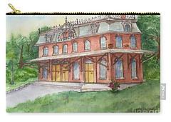 Carry-all Pouch featuring the painting Hopewell Nj Train Station by Lucia Grilletto