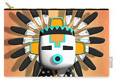 Carry-all Pouch featuring the digital art Hopi Kachina Mask by John Wills