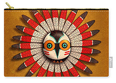 Carry-all Pouch featuring the digital art Hopi Owl Mask by John Wills