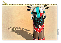 Hopi Sun Face Kachina Carry-all Pouch