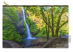 Carry-all Pouch featuring the photograph Horesetail Falls by Jonny D