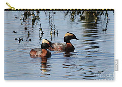 Horned Grebe Couple Carry-all Pouch