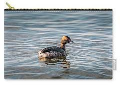 Horned Grebe Swimming In The Chesapeake Bay Carry-all Pouch