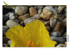 Horned Poppy And Pebbles Carry-all Pouch by John Topman