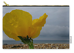 Horned Poppy By The Sea Carry-all Pouch by John Topman