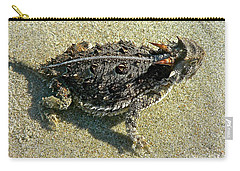 Horny Toad Lizard Carry-all Pouch