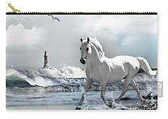 Horse At Roker Pier Carry-all Pouch