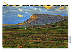 Carry-all Pouch featuring the photograph Horse And Sky by Scott Mahon