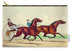 Horse Carriage Race Carry-all Pouch