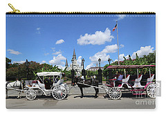 Carry-all Pouch featuring the photograph Horse Carriages by Steven Spak