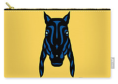 Horse Face Rick - Horse Pop Art - Primrose Yellow, Lapis Blue, Island Paradise Blue Carry-all Pouch