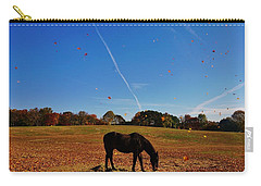 Horse Farm In The Fall Carry-all Pouch by Ed Sweeney