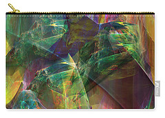 Horse Feathers Carry-all Pouch by John Robert Beck