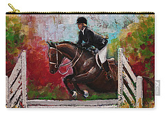 Show Jumper Equestrian Horse Wall Art  Carry-all Pouch