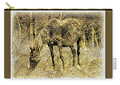 Horse Grazing On Pasture 2 Carry-all Pouch