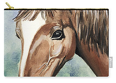 Horse In Love Carry-all Pouch by Alban Dizdari