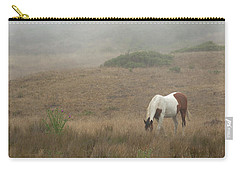 Horse In The Mist Carry-all Pouch by Diane Diederich