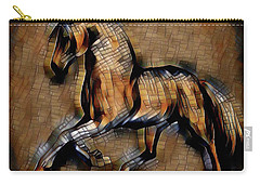 Horse Mosaic Carry-all Pouch