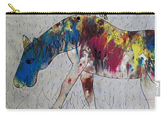 Carry-all Pouch featuring the painting Horse Of A Different Color by Thomasina Durkay
