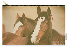 Carry-all Pouch featuring the photograph Horse Portrait by Ana V Ramirez