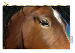 Horse Portrait Close Up Carry-all Pouch
