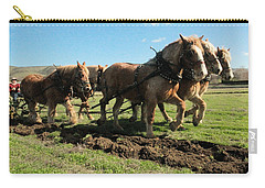 Carry-all Pouch featuring the photograph Horse Power by Jeff Swan