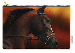 Horse Riding Carry-all Pouch by Suzanne Handel