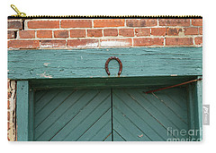 Horse Shoe On Old Door Frame Carry-all Pouch