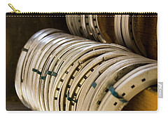 Carry-all Pouch featuring the photograph Horse Shoes by Angela Rath