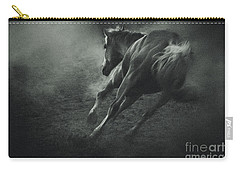 Horse Trotting In Morning Fog Carry-all Pouch