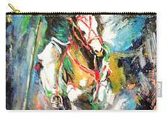 Horse,horseman And The Target Carry-all Pouch by Khalid Saeed